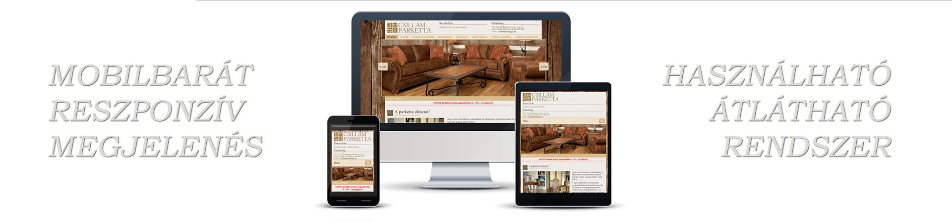 Honlapkészítés, keresőoptimalizálás, weboldal készítés, webáriház készítés - Mobilbarát Reszponzív Honlapkészítés